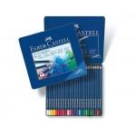 Pieštukai FABER-CASTELL Art Grip spalvoti akvareliniai metalinėje dėžutėje 24 spalvų