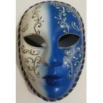 Karnavalinė kaukė mėlyna-balta