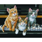 """Deimantinė mozaika GF2960 """"Kačiukai"""""""
