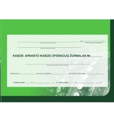 Kasos operacijų žurnalas (horizontalus) EKA