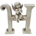 "Gispo raidė - angelas 13cm."" H"""