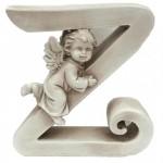 """Gipso raidė - angelas 13cm."""" Z"""""""